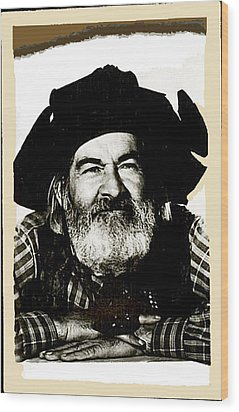 George Hayes Portrait #1 Card Wood Print