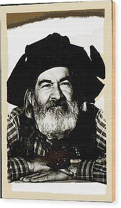 George Hayes Portrait #1 Card Wood Print by David Lee Guss
