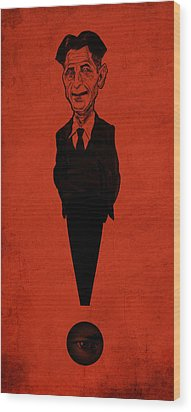 George Orwell Wood Print by Thomas Seltzer