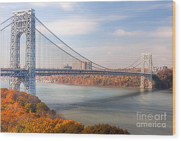 George Washington Bridge Wood Print