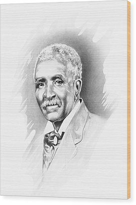 George Washington Carver Wood Print by Gordon Van Dusen