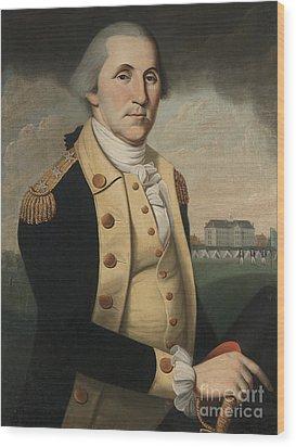 George Washington Wood Print by Charles Peale Polk