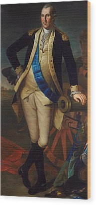 George Washington Wood Print by Charles Wilson Peale