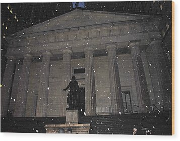 Wood Print featuring the photograph George Washington Federal Hall by Robert  Moss