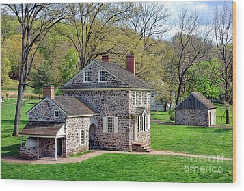 George Washington Headquarters At Valley Forge Wood Print
