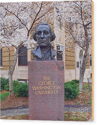 George Washington University Bust 1958 Wood Print