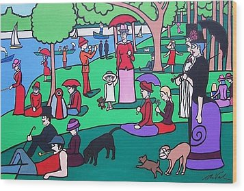 George Seurat- A Cyclops Sunday Afternoon On The Island Of La Grande Jatte Wood Print