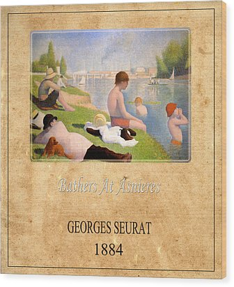 Georges Seurat 1 Wood Print by Andrew Fare