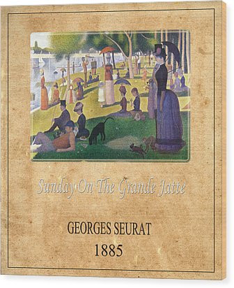 Georges Seurat 2 Wood Print by Andrew Fare