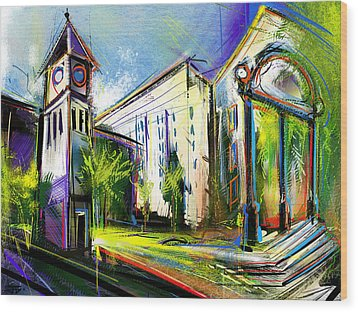 Local Landmarks Wood Print by John Jr Gholson