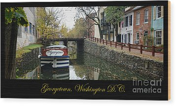 Georgetown Canal Poster Wood Print by Olivier Le Queinec