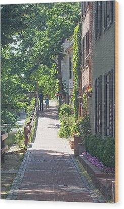 Georgetown Canal Walk Wood Print