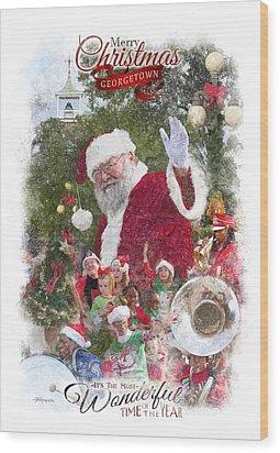 Georgetown Christmas Wood Print