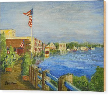 Georgetown Harbor Wood Print by Cecelia Campbell