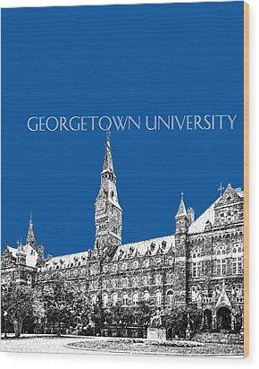 Georgetown University - Royal Blue Wood Print