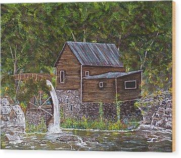 Georgia Mill Wood Print by Leo Gehrtz