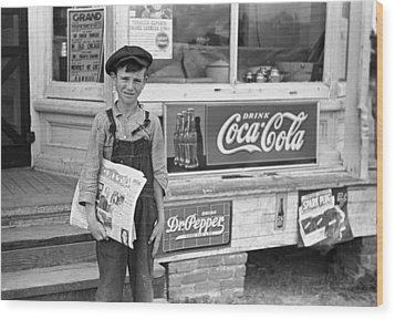 Georgia Newsboy, 1938 Wood Print by Granger