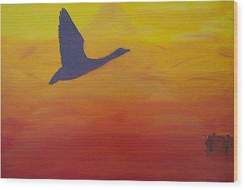 Georgian Bay Sunset Wood Print by Alex Banman