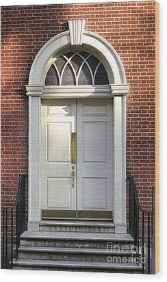 Georgian Door Wood Print by Olivier Le Queinec