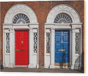 Georgian Doors Wood Print by Inge Johnsson