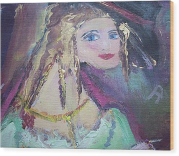 Georgiana And The Ring Wood Print by Judith Desrosiers