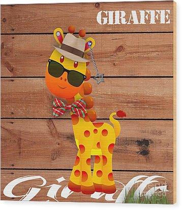 Georgie Giraffe Collection Wood Print
