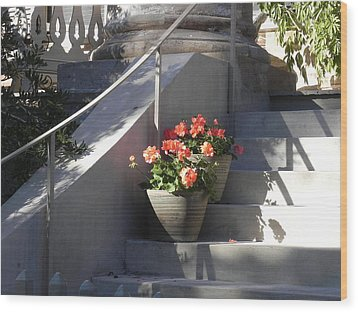 Wood Print featuring the photograph Geraniums Look Better In Beaufort by Patricia Greer