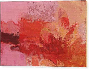 Gerberie - 221at02 Wood Print by Variance Collections