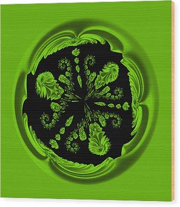 Gerbia Daisy Digitized Orb Wood Print
