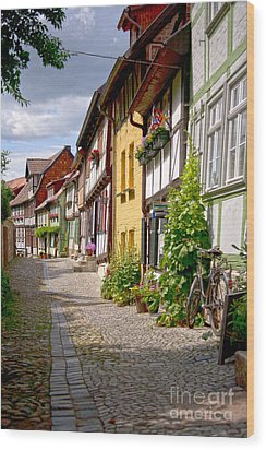 German Old Village Quedlinburg Wood Print by Heiko Koehrer-Wagner