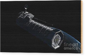 German Orbital Weapons Platform Wood Print by Rhys Taylor