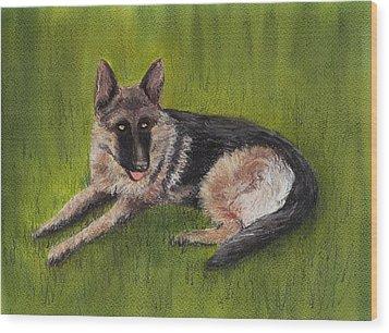 German Shepherd Wood Print by Anastasiya Malakhova