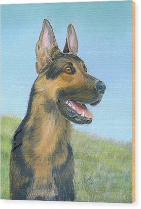 German Shepherd Dog Wood Print