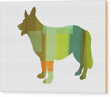 German Sheppard 1 Wood Print by Naxart Studio
