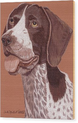 German Shorthair Pointer Vignette Wood Print by Anita Putman