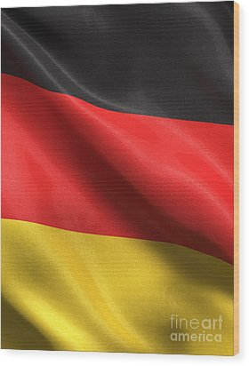 Germany Flag Wood Print by Carsten Reisinger
