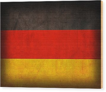 Germany Flag Vintage Distressed Finish Wood Print by Design Turnpike