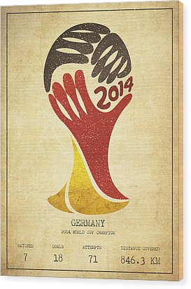 Germany World Cup Champion Wood Print by Aged Pixel