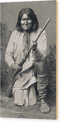 Geronimo - 1886 Wood Print by Daniel Hagerman