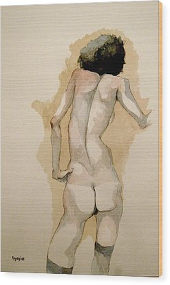 Gertrude Schiele Wood Print by Ray Agius
