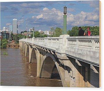 Gervais Street Bridge 1 Wood Print