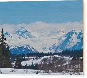 Gerwink Glacier Homer Ak Wood Print