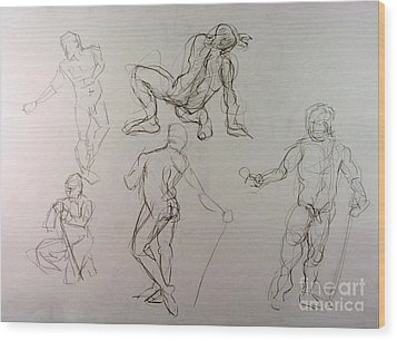 Gestures Of A Man Wood Print by Andy Gordon