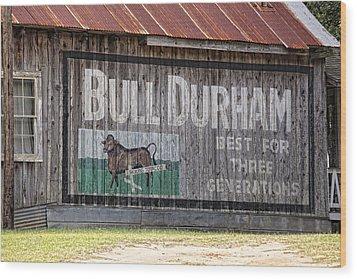 Get The Bull Wood Print