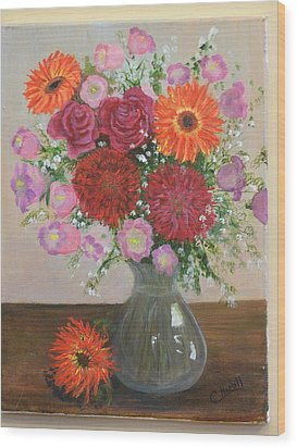 Get Well Flowers Wood Print by Catherine Hamill
