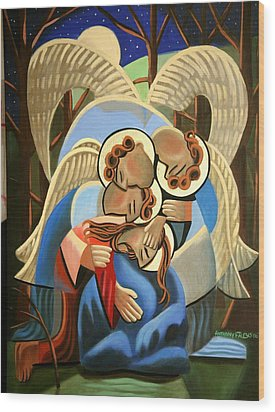 Gethsemane The Hour Is Near Wood Print by Anthony Falbo