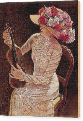 Getting In Tune Wood Print by Sue Halstenberg