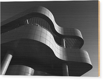 Getty Center Wood Print by Yue Wang