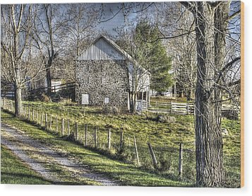 Wood Print featuring the photograph Gettysburg At Rest - Sarah Patterson Farm Field Hospital Muted by Michael Mazaika
