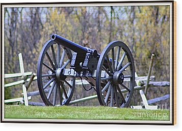 Gettysburg Battlefield Cannon Wood Print by Patti Whitten